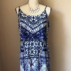 Francesca's Printed Maxi Dress NWT